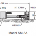 Image SM-5 Series Surface Mount Vibrating Wire Strain Gauge