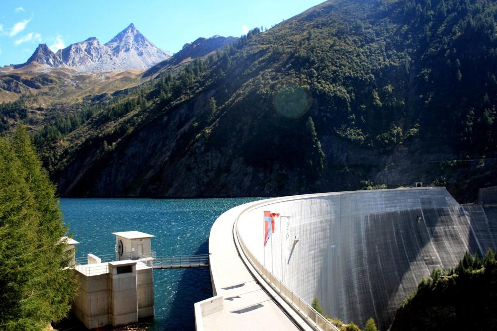 Image Luzzone dam raising