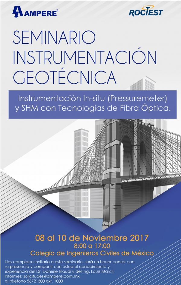 Image Séminaire sur l'Instrumentation Géotechnique, Mexico, MX