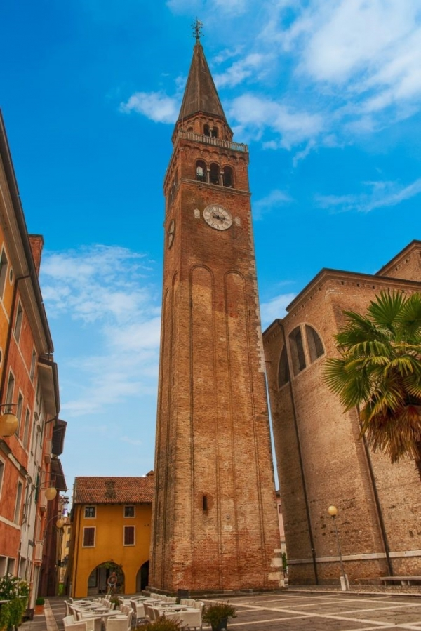 Image Bell Tower in Portogruaro, Italy