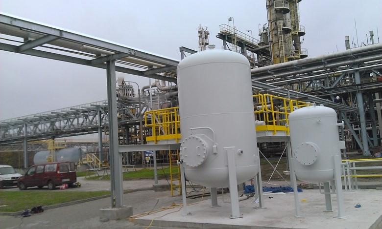 Hydrogen steel rack pipes at Skotan Power Plant