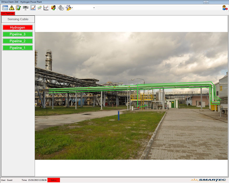 DiView Graphical User Interface superimposed hydrogen lines